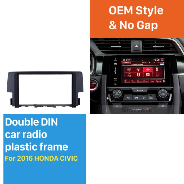 Exquisite 2Din 2016 HONDA CIVIC Car Radio Fascia DVD Gps Decorative Frame Audio Cover Stereo Installation