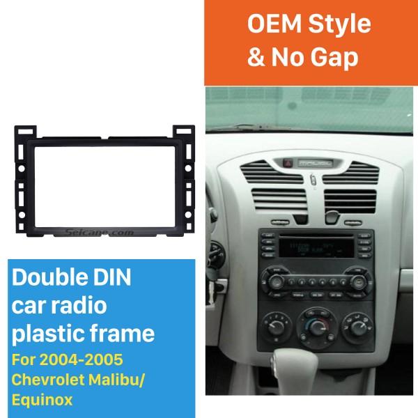 2DIN 2004 2005 Chevrolet Malibu Equinox Car Radio Fascia Stereo Mounted Installation Trim Panel Face Frame