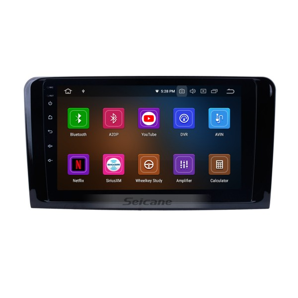 2005-2012 Mercedes Benz ML Class W164 ML280 ML300 ML320 ML350 ML420 ML450 ML500 ML550 ML63 Radio Removal with Android 9.0 GPS Navigation Stereo 1024*600 Multi-touch Capacitive Screen DVD Mirror Link OBD2 Bluetooth 4G WiFi