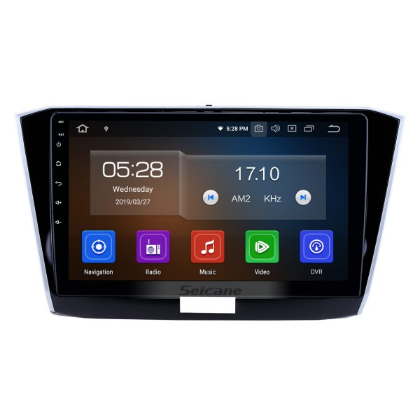 10.1 inch 2016-2018 VW Volkswagen Passat Android 9.0 GPS Navigation Radio Bluetooth HD Touchscreen AUX USB Carplay support Mirror Link