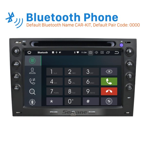Android 8.0 Autoradio GPS Stereo for 2003-2010 Renault Megane with Bluetooth Mirror Link OBD2 3G WiFi CD DVD Player Steering Wheel Control HD 1080P Video