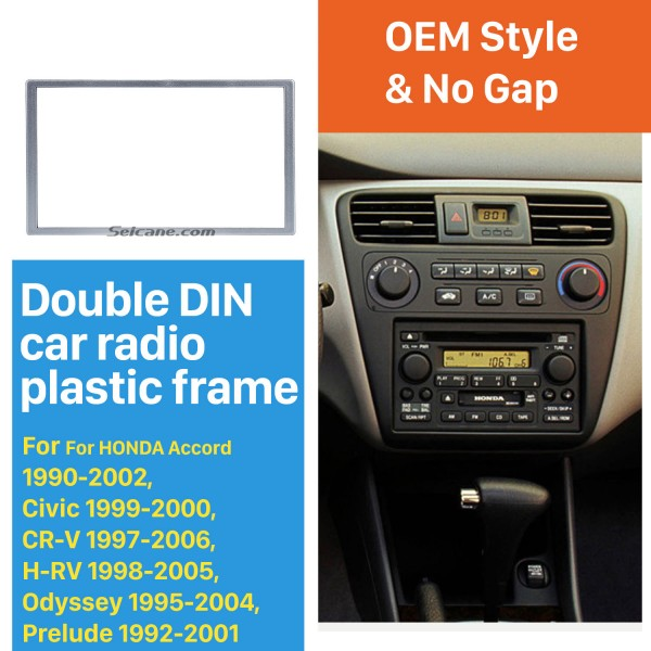 Universal Silver 173*98mm 2Din HONDA FIT Jazz automobile Car Radio Fascia DVD Frame Auto stereo Adapter CD Trim