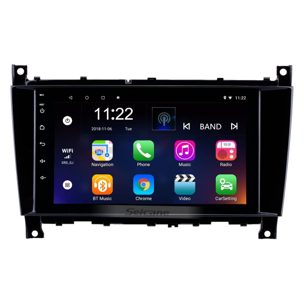 8 inch Android 8.1 GPS Navigation Radio for 2005-2007 Mercedes-Benz G Class W467 G550 G500 G400 G320 G270 G55 with Bluetooth HD Touchscreen support Carplay DVR OBD