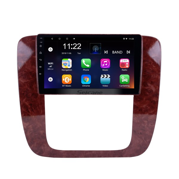 Android 8.1 9 inch GPS Navigation Radio for 2007-2012 GMC Yukon/Acadia/Tahoe Chevy Chevrolet Tahoe/Suburban Buick Enclave with HD Touchscreen Bluetooth support OBD2 Carplay