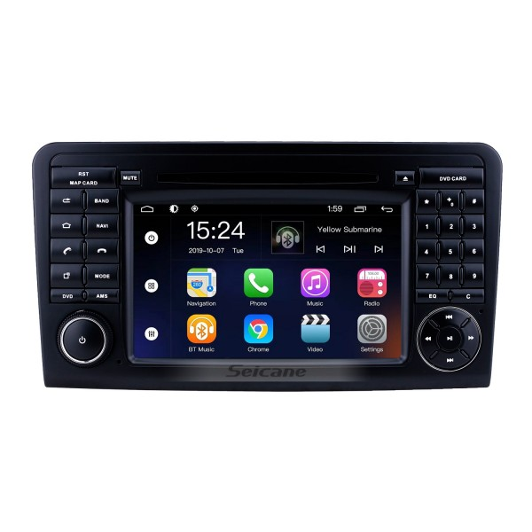 Android 9.0 7 inch for Mercedes Benz ML CLASS W164 ML350 ML430 ML450 ML500/GL CLASS X164 GL320 Radio HD Touchscreen GPS Navigation System with Bluetooth support Carplay DVR