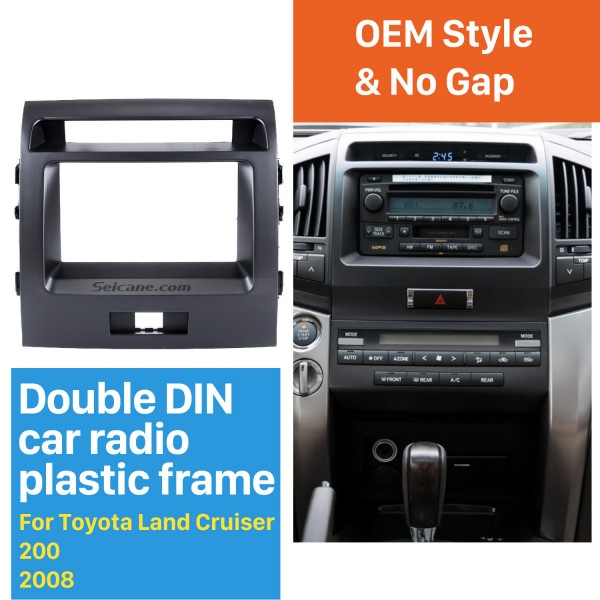 Good Double Din 2008 Toyota Land Cruiser 200 Car Radio Fascia Panel Kit Install Frame Car Styling