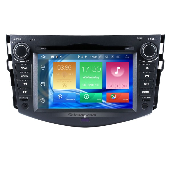 2008 2009 2010 2011 Toyota Rav4 DVD Player Android 8.0 Radio GPS Head Unit Support Navigation OBD2 USB SD DVR Bluetooth Music WIFI Digital TV Mirror Link Steering Wheel Control