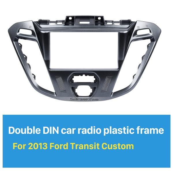 Superior 2Din Car Radio Fascia for 2013 Ford Transit Custom Stereo Plate Frame Panel Car Styling Dash Kit