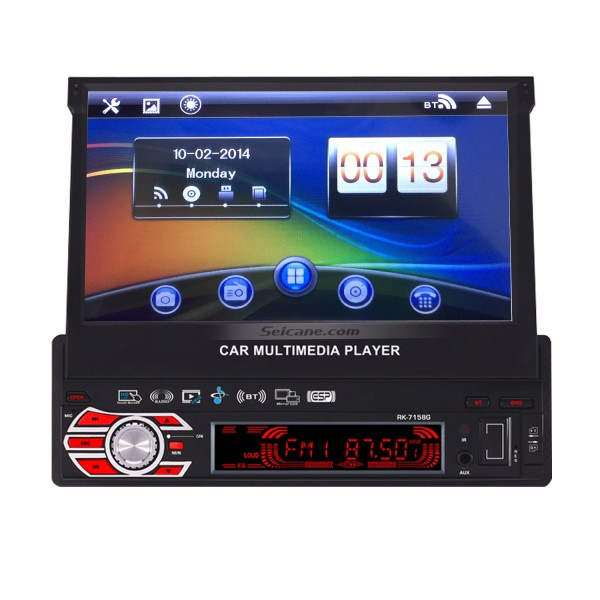 Single 1Din Car Stereo Touch screen Radio Bluetooth music GPS  Navigation System MP3 MP5 Player