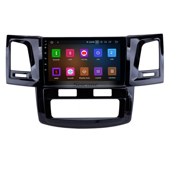 OEM 9 inch Android 10.0 GPS Navigation Radio for 2008-2014 Toyota Fortuner/Hilux Bluetooth HD Touchscreen Carplay USB support DVR Digital TV