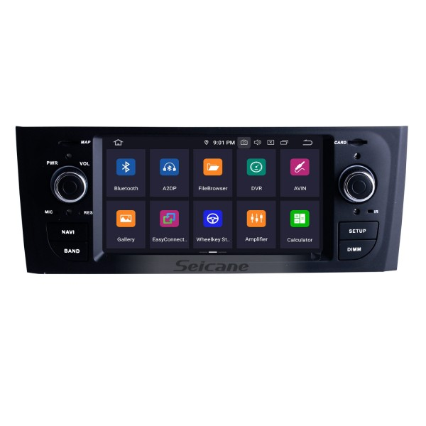 OEM FIAT OID PUNTO Android 9.0 GPS Navigation System with Radio DVD Player Touchscreen Bluetooth Mirror Link DVR OBD2 DAB+ Steering Wheel Control Backup Camera