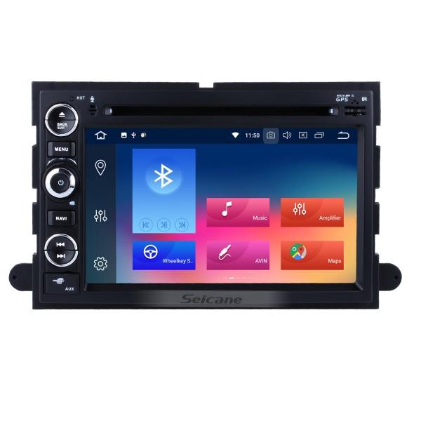 7 Inch HD Touchscreen Android 9.0 In Dash Radio  For 2005-2009 Ford Freestyle Mustang DVD Player GPS Navigation System Bluetooth Phone WIFI Support Digital TV DVR USB OBDII Steering Wheel Control