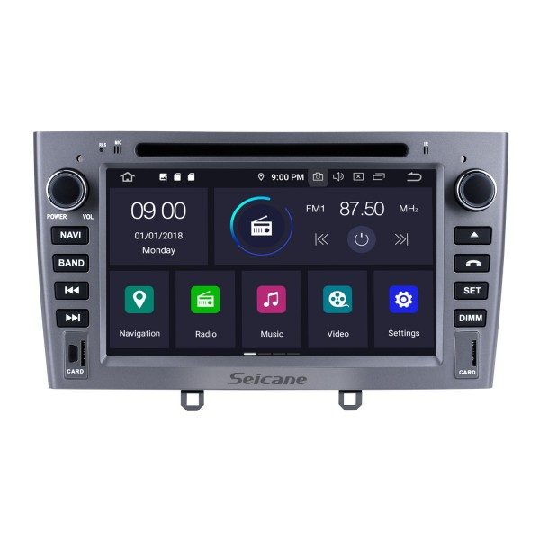In dash DVD Player Android 9.0 Radio GPS Navi Head unit for 2010 2011 PEUGEOT 408 Support Bluetooth Multimedia player 1080P Video USB SD OBD2 WIFI HD Touch Screen