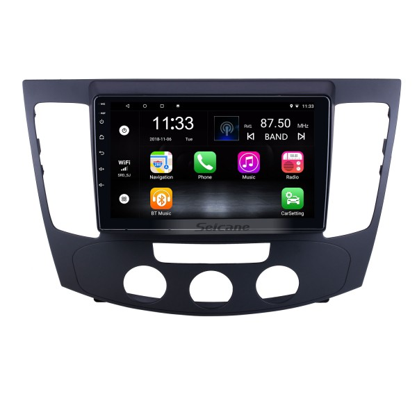 Android 10.0 9 inch for 2009 Hyundai Sonata Manual A/C Radio HD Touchscreen GPS Navigation System with Bluetooth support Carplay Rear camera