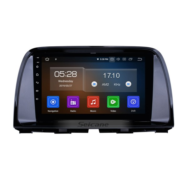 9 Inch OEM Android 4.4 Radio GPS Navigation system For 2012 2013 2014 MAZDA CX-5 with Bluetooth Capacitive Touch Screen TPMS DVR OBD II Rear camera AUX 3G WiFi HD 1080P Video Headrest Monitor Control USB SD
