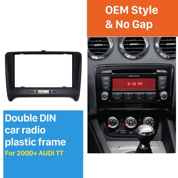 Black Double Din 2000+ Audi TT Car Radio Fascia Autostereo Panel Kit Fitting Frame Stereo Dashboard Install