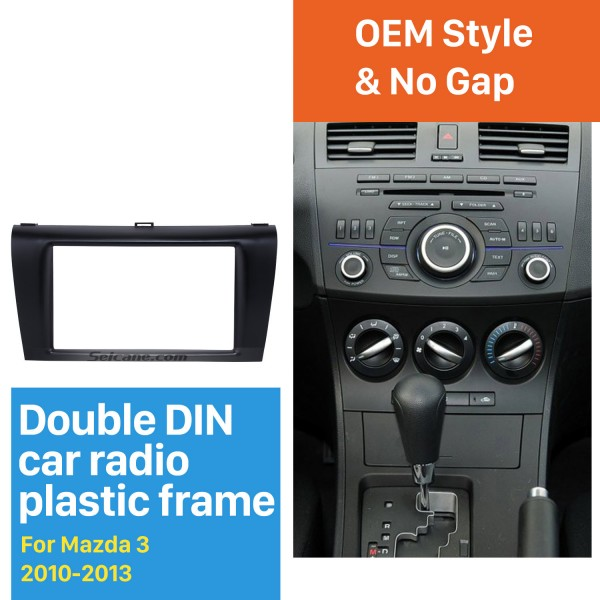 Top Quality 2DIN 2010-2013 Mazda 3 Car Radio Fascia Auto Stereo Installation Trim CD Panel Car-styling Face Plate Frame