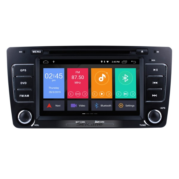 OEM Android 9.0 Multi-touch GPS Sound System Upgrade for 2011 2012 2013 Skoda Octavia with Radio Tuner DVD 3G WiFi Mirror Link Bluetooth AUX OBD2