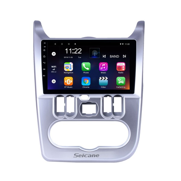 2009-2013 Renault Duster/Logan 9 inch Android 8.1 HD Touchscreen Bluetooth GPS Navigation Radio USB AUX support Carplay 3G WIFI Backup camera
