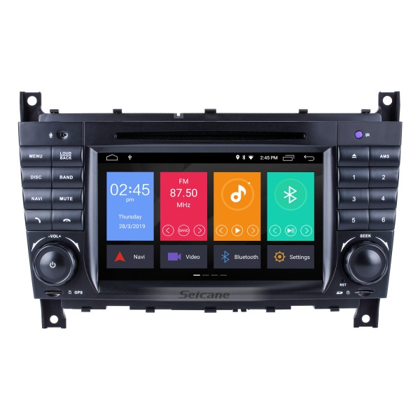 Android 10.0 In Dash Car DVD GPS System for 2004-2007 Mercedes Benz C Class W203 C180 C200 C220 C230 with 3G WiFi AM FM Radio Bluetooth Mirror Link OBD2 AUX DVR
