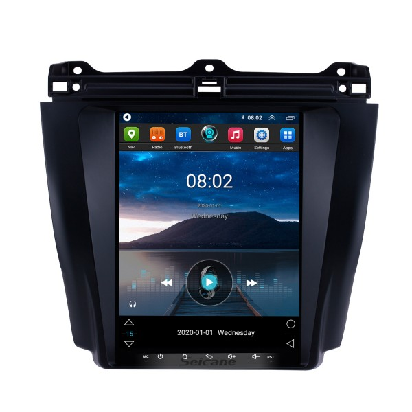 HD Touchscreen 9.7 inch Android 9.1 Aftermarket GPS Navigation Radio for 2003-2007 Honda Accord 7 with Bluetooth Phone AUX FM Steering Wheel Control support DVD 1080P Video OBD2