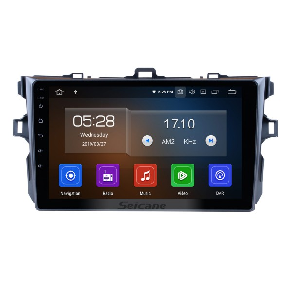 9 inch 1024*600 Touchscreen Android 9.0 2006 2007 2008 2009 2010 2011 Toyota Corolla Radio GPS Navigation System Bluetooth Rearview Camera Steering Wheel Control 3G WIFI 1080P