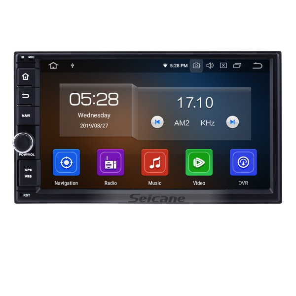 Android 9.0 7 inch HD Touchscreen Universal NISSAN TOYOTA VW Volkswagen 2 Din Radio GPS Navigation System WIFI USB AUX Mirror Link Bluetooth MP3 Music Steering Wheel Control