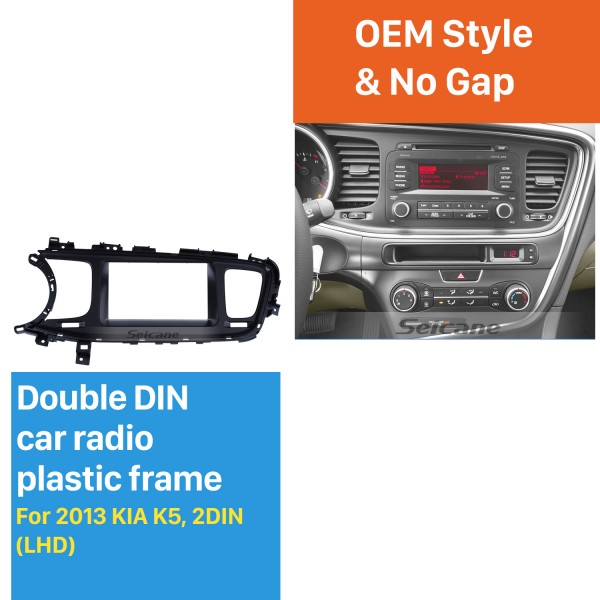 Fashionable 2Din 2013 KIA K5 Left Hand Drive Car Radio Fascia Stereo Interface Fitting Frame Audio Player