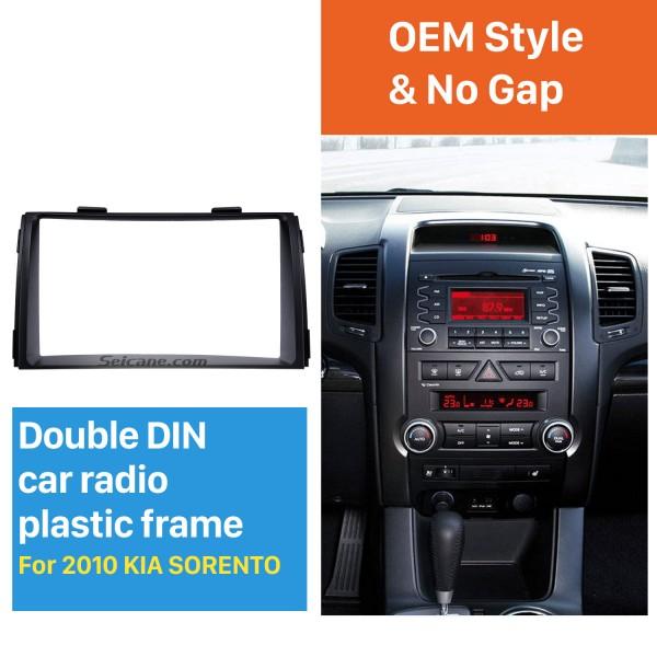 Black Double Din 2010 KIA SORENTO Car Radio Fascia Trim Install Frame Autostereo Adapter Dash Kit