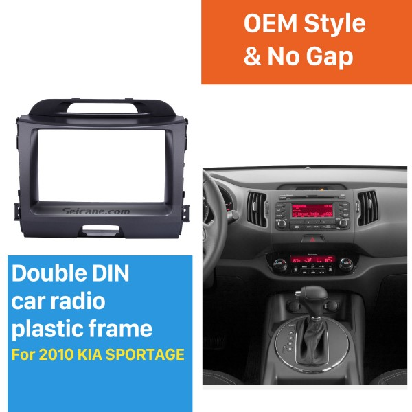 Superb Double Din 2010 KIA SPORTAGE Car Radio Fascia Stereo Interface Audio Fitting Frame Adaptor Trim Panel Kit