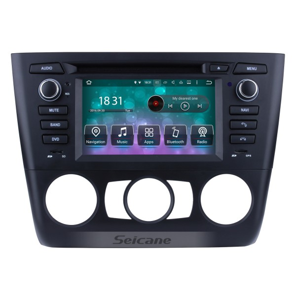Android 8.0 Radio DVD 2004-2012 BMW 3 Series E81 E82 E88 manual (air-conditioner +heated seat) 116i 116d 118i 118d 120i 120d 123d 125i 128i 130i 135i GPS Navigation with 3G WiFi Mirror Link OBD2 Rearview Camera DVR