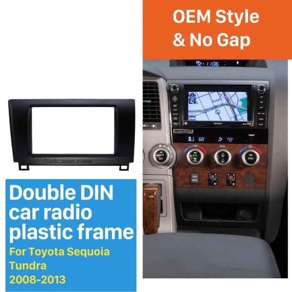 Superior 2Din 2008-2013 Toyota Sequoia Tundra Car Radio Fascia Trim Bezel Frame Audio Player Panel Adaptor
