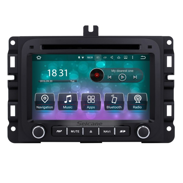 Android 8.0 7 inch HD Touch Screen DVD Player for 2013-2015 Dodge Ram 1500 2500 3500 4500 Radio GPS Navigation Bluetooth WIFI Support TV Backup Camera steering wheel control USB SD 1080P Video