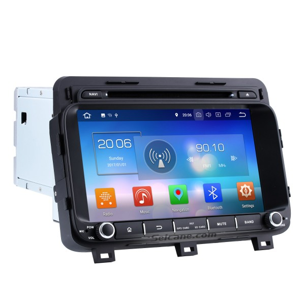 8 inch Android 8.0 Radio GPS  navigation system  for 2014 2015 KIA K5  OPTIMA with  HD 1024*600 touch screen DVD player Bluetooth OBD2 DVR Rearview camera TV 1080P Video 3G WIFI Steering Wheel Control USB Mirror link