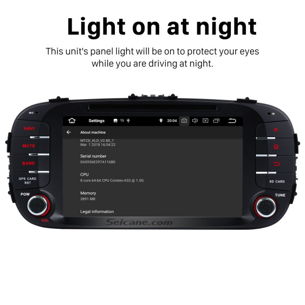Android 8.0 Radio GPS Navigation Car stereo for 2012 2013 2014 KIA SOUL with Canbus Bluetooth WIFI USB DVD Player OBD2 Mirror Link  Rearview Camera