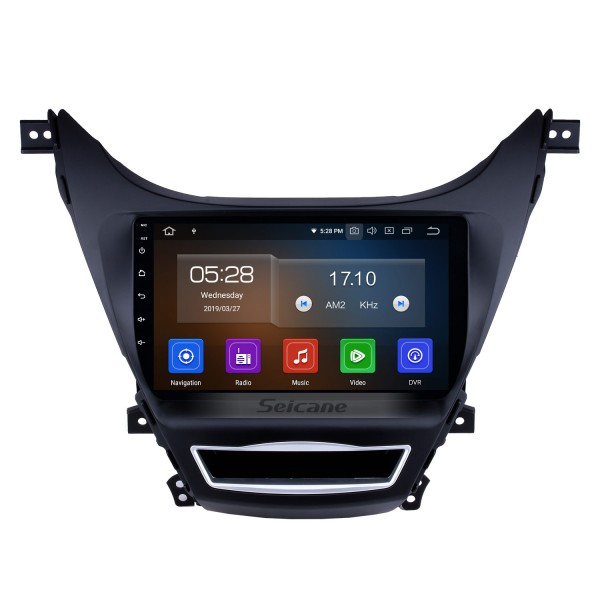 9 inch Android 9.0 Radio GPS Car Navigation System for 2012 2013 Hyundai Elantra with Quad-core CPU Bluetooth Music 4G WiFi Mirror Link OBD2 Rearview Camera Steering Wheel Control AUX DVR 16G Flash