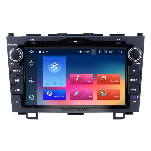 8 inch 2006-2011 Honda CRV Radio Replacement with Android 9.0 Aftermarket Sat Nav System 1024*600 Multi-touch Capacitive Screen Bluetooth WiFi Mirror Link OBD2 1080P AUX DVR