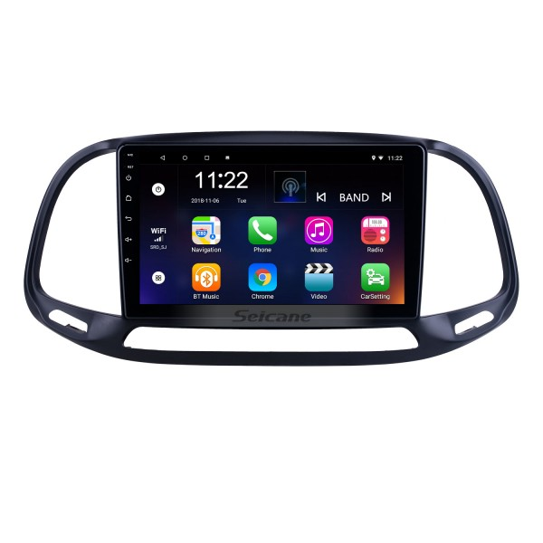 HD Touchscreen 9 inch Android 10.0 for 2015 2016 2017 2018 2019 Fiat Doblo Radio GPS Navigation System with Bluetooth support Carplay