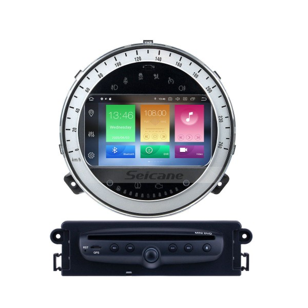Android 10.0 Car GPS Navigation DVD Player For 2006-2013 BMW Mini Cooper With Radio Bluetooth 1080P Video USB SD Rearview Camera TV DVR