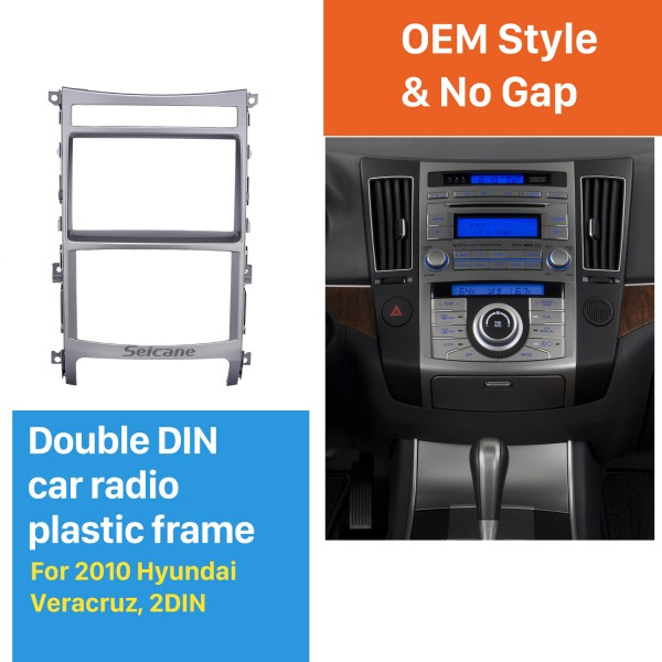 Gorgeous Double Din 2010 HYUNDAI VERACRUZ Car Radio Fascia Trim Bezel Dash Mount Kit DVD Stereo Player Frame