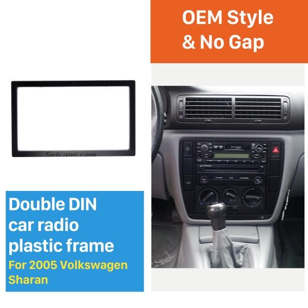 173*98mm Double Din 2005 Volkswagen Sharan Car Radio Fascia Auto Stereo Fitting Frame Dash Kit Panel Adaptor