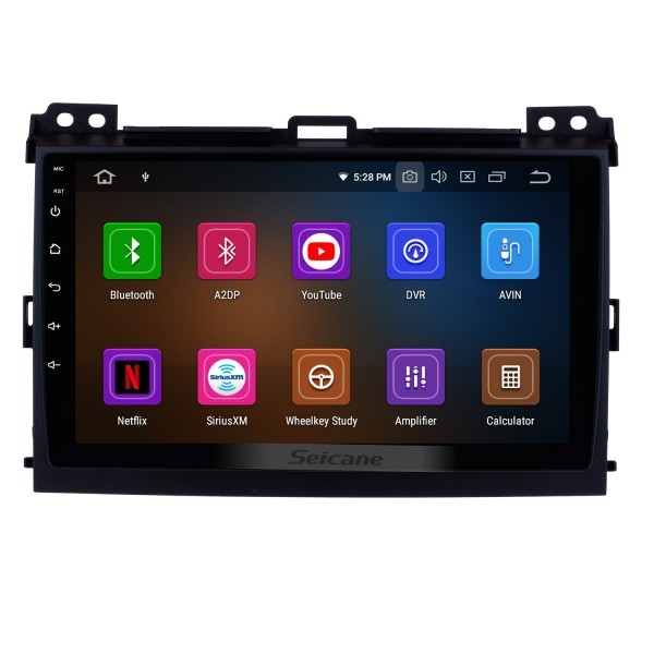 Android 9.0 2002 2003 2004 2005-2009 Toyota Prado GPS Navigation Bluetooth 1080P Video WIFI USB Mirror Link Car Radio Support DVR Backup Camera Digital TV