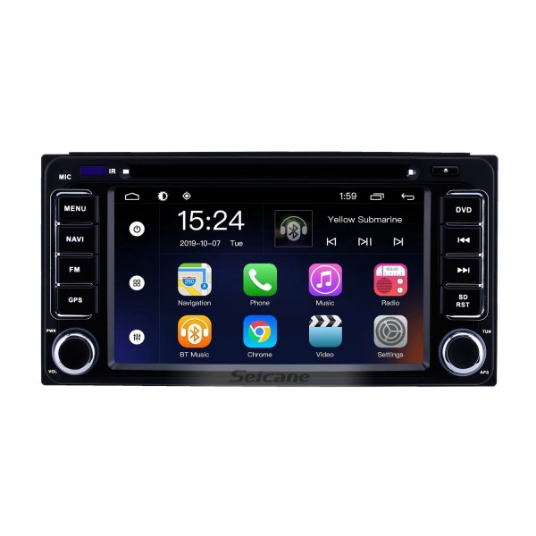 Android 9.0 6.2 inch for Universal Radio GPS Navigation System with HD Touchscreen Bluetooth AUX WIFI support Carplay DVR OBD2