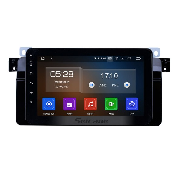 8 inch Android 9.0 GPS Navigation Radio for 1998-2006 BMW 3 Series E46 M3/2001-2004 MG ZT/1999-2004 Rover 75 with HD Touchscreen Carplay Bluetooth support SWC DVR