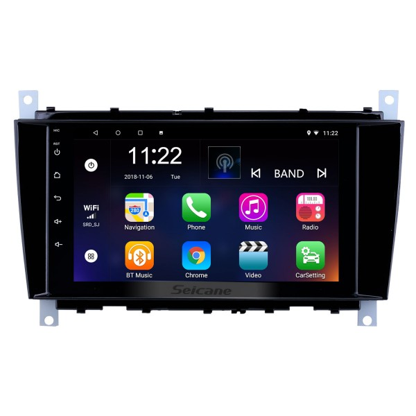 8 inch Android 10.0 GPS Navigation Radio for 2004-2011 Mercedes Benz C Class C55 / CLC Class W203 /CLK Class W209 /CLS Class W219 with Bluetooth WiFi Touchscreen support Carplay DVR