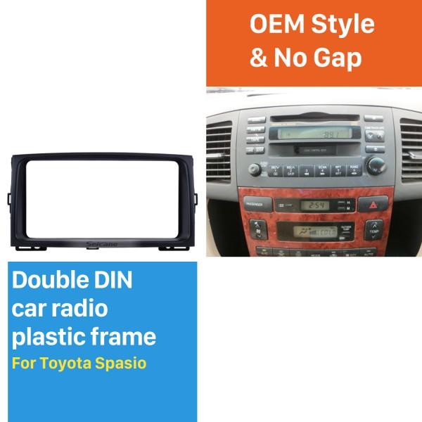 202*102mm Double Din Toyota Spasio Car Radio Fascia Stereo Dash CD Frame Panel Trim Installation