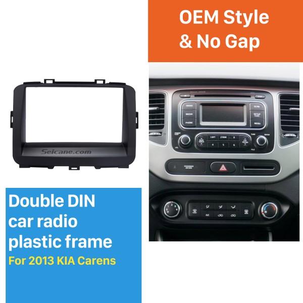 Black Double Din 2013 KIA CARENS Car Radio Fascia Trim Install Frame Audio Cover Panel kit