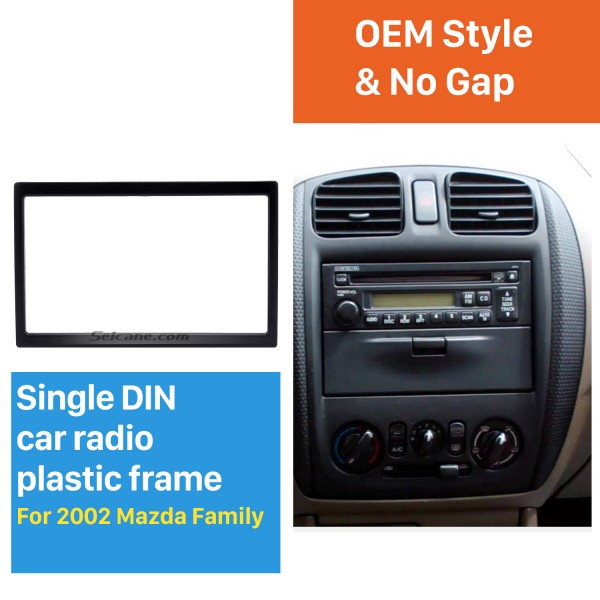 High Quality 173*98 2Din 2002 Mazda Family Car Radio Fascia DVD Player Auto Stereo Installation Trim Panel Kit Frame Car Styling
