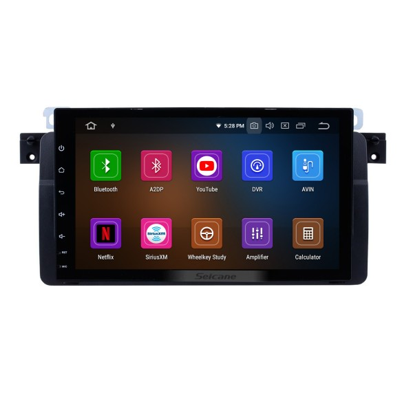 1998-2006 BMW 3 Series M3 E46 316i 318i 320i 323i 325i Android 9.0 9 inch HD touchscreen 1024*600 Car Stereo DVD GPS System with Bluetooth Radio RDS Tuner WiFi Mirror Link OBD2