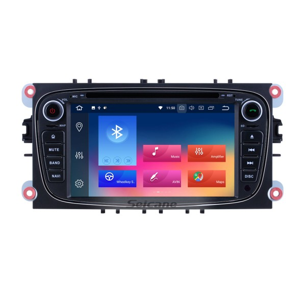 Android 9.0 GPS Navi DVD Player Radio Stereo for 2008 2009 2010 2011 Ford Focus Audio system Support Bluetooth Music Aux 1080P Video OBD2 DVR Mirror Link DAB+ Backup Camera